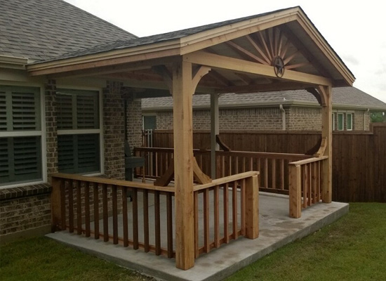Granbury outdoor kitchen covered patios